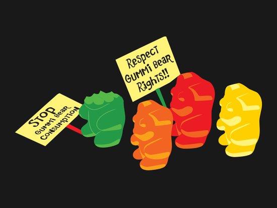 Stop Gummibear Cruelty! Art Print
