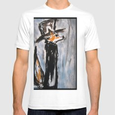 Dandy Fox Mens Fitted Tee SMALL White
