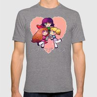 PowerPuff  Mens Fitted Tee Tri-Grey SMALL