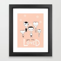 You are Loved - Pink Framed Art Print