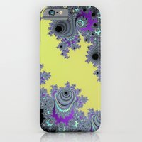 Asymmetrical Fractal in Yellow, Black and Purple iPhone 6 Slim Case