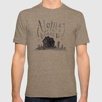 Home Is Where The Heart … Mens Fitted Tee Tri-Coffee SMALL