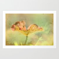 Faded Water Leaf  - JUST… Art Print