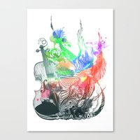 Fiddle Canvas Print