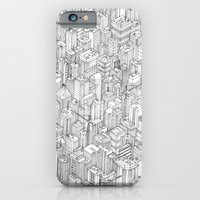 iPhone Cases featuring Isometric Urbanism pt.1 by Herds of Birds