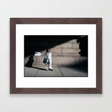Windy NY Framed Art Print