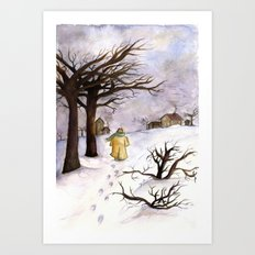 A walk to Home Art Print