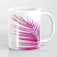 pink palm leaf II Mug
