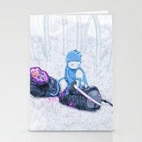 Samurai Monkey Stationery Cards