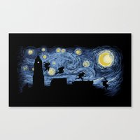 Starry Fight Canvas Print