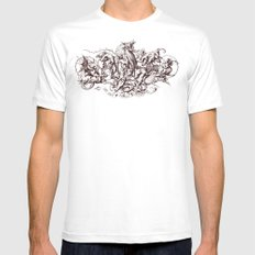 Sins Mens Fitted Tee White SMALL