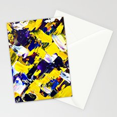 Yellow Intersections Stationery Cards