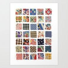 UPPERCASE feedsacks Art Print
