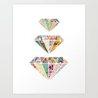 Diamonds Are A Girls Bes… Art Print
