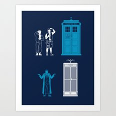 This is Not My Time Machine Art Print