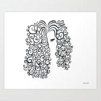 Curly Girl Art Print