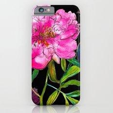 Black Peony iPhone 6s Slim Case