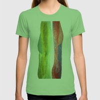 Woman Vs Woman Womens Fitted Tee Grass SMALL