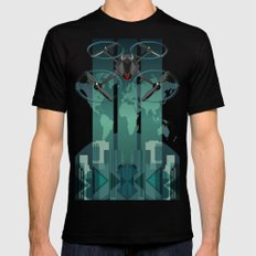 Amazon Prime Air or SKYNET the begining SMALL Mens Fitted Tee Black