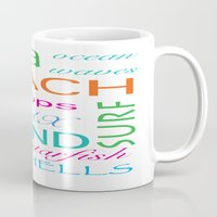 Beach typography Mug