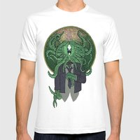Eye Of Cthulhu Mens Fitted Tee White SMALL