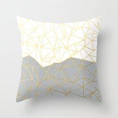 Ab Half and Half Grey Throw Pillow