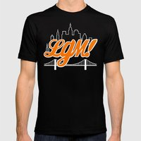 Let's Go Mets Mens Fitted Tee Black SMALL