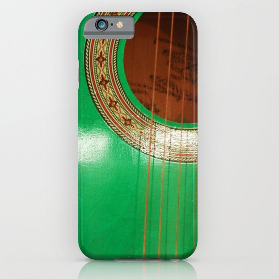 Green guitar iPhone & iPod Case