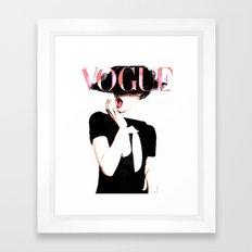 Vogue Red Lips Framed Art Print