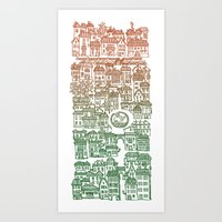Autumn City Art Print