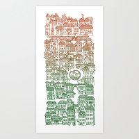 Autumn city Art Print