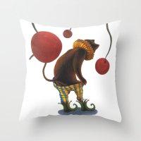 DEPRESSED CAT Throw Pillow