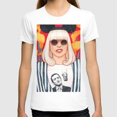 Jazz Art Pop Punk Womens Fitted Tee White SMALL
