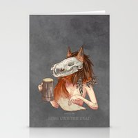 Long Live The Dead - Fox Stationery Cards
