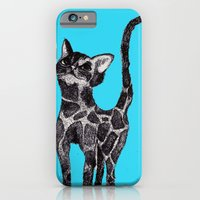 iPhone & iPod Case featuring Giraffe Cat 2. by MorningMajor