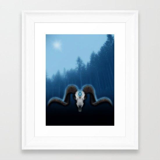 Wet Horns Framed Art Print