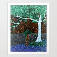 Cherry Tree Geisha Inver… Art Print