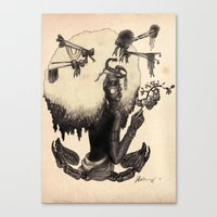 S C O R P I O - Black An… Canvas Print