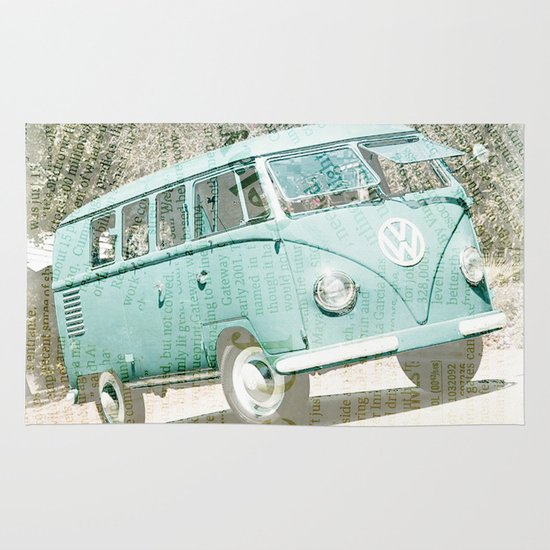 going up the country _ VW Kombi Area & Throw Rug