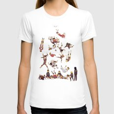 FLY Womens Fitted Tee White SMALL