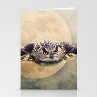 Angry Moon Stationery Cards