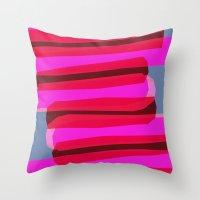 Pink stack  Throw Pillow