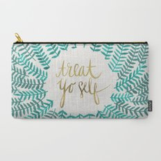 Treat Yo Self – Gold & Turquoise Carry-All Pouch