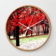First Snowfall Wall Clock