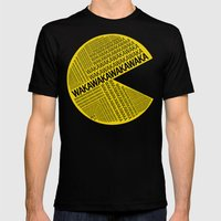 Pac-Man Typography Mens Fitted Tee Black SMALL
