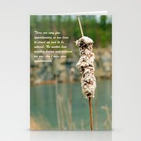 Inspiration Of A Cattail Stationery Cards