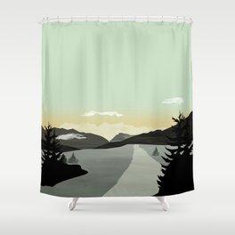 Shower Curtain - Misty Mountain II - Schwebewesen • Romina Lutz