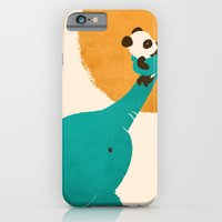 iPhone Cases featuring Panda's Little Helper by Jay Fleck
