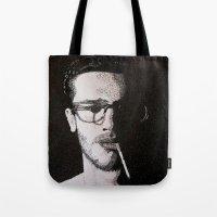 John Frusciante Pointillism Portrait Tote Bag