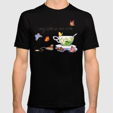 September Mens Fitted Tee Black SMALL
